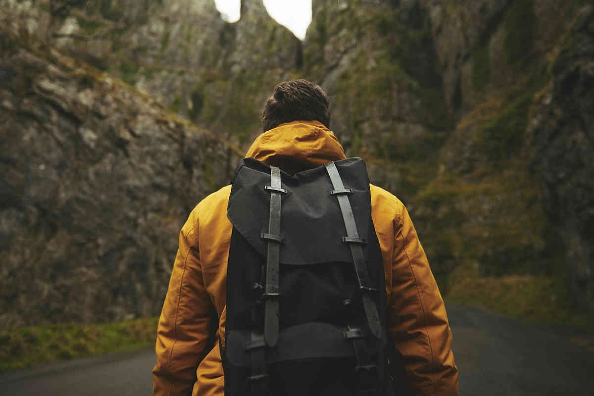 wandern mit rucksack